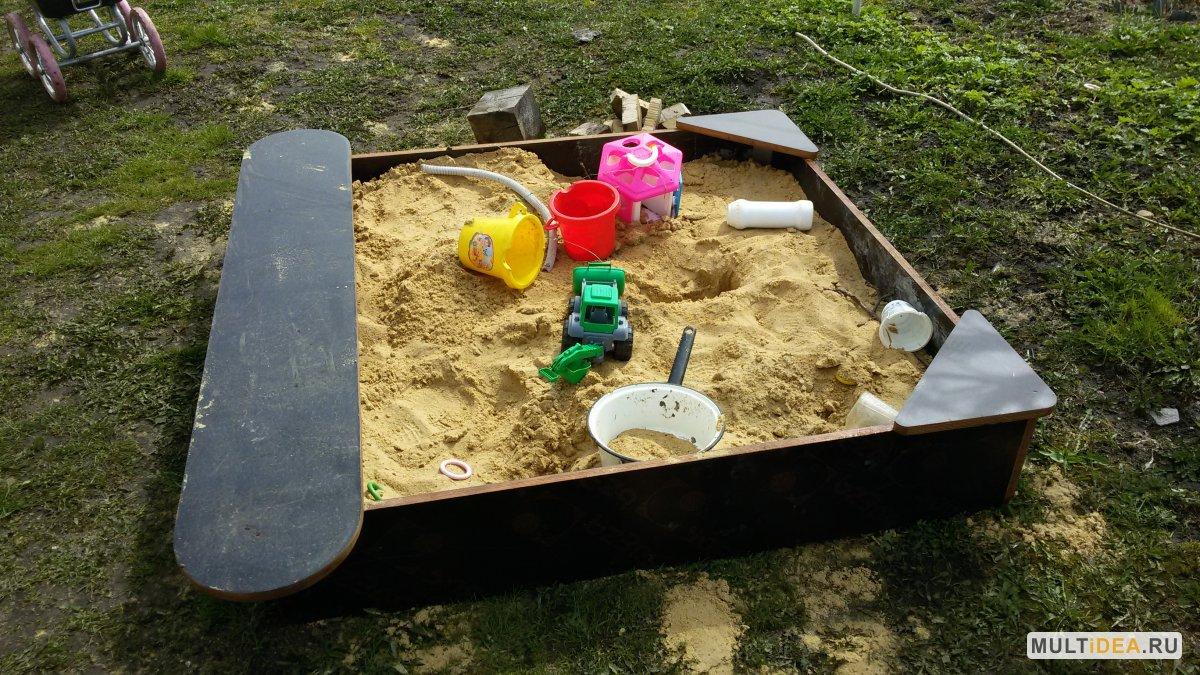 Детская песочница своими руками на даче 652