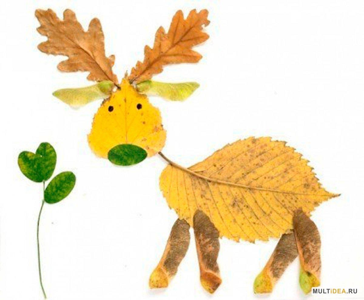 Поделки из осенних листьев своими руками для детей