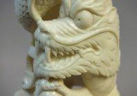 """Ваза """"Китайский дракон с жемчужиной"""""""