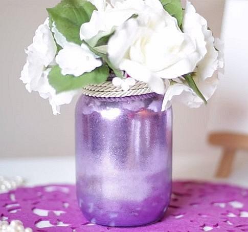 ваза своими руками из банки фото
