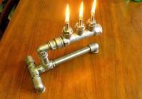 Делаем масляную (керосиновую) лампу из труб своими руками