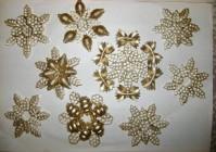 Снежинки и звездочки из макарон на Новый год