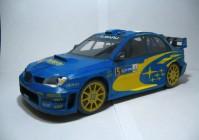 Модель машины Subaru Impreza WRC 2006 из бумаги