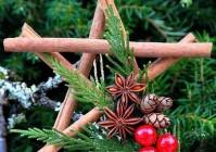 Новогодняя поделка звезда из палочек корицы