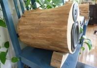 Самодельные акустические колонки из настоящего дерева