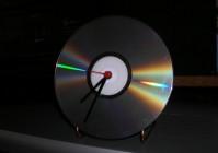 Концептуальные часы из компакт-диска