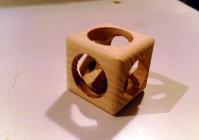 Как сделать куб в кубе из дерева