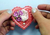 Красивая валентинка своими руками в технике Скрапбукинг