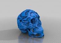 Резной череп - готовая модель для 3D принтера