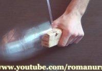 Веревка, лента из пластиковой бутылки своими руками