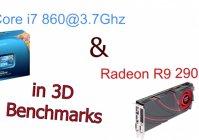 Core i7 860 и Radeon R9 290X в 3D тестах