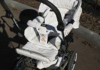 Роспись детской коляски: