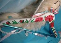 """Плечики - вешалка с ручной росписью: """"Пионы"""" / Hanger with hand-painted: """"Peonies"""""""