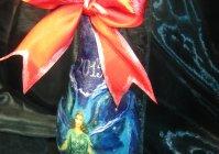 "Бутылка шампанского с декором: ""Фея"" / Bottle of champagne with the decor: ""Fairy"""