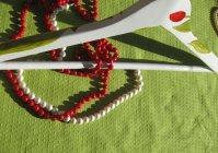 """Вешалка для одежды с ручной росписью: """"Тюльпаны"""" / Clothes hanger with hand painted """"Tulips"""""""