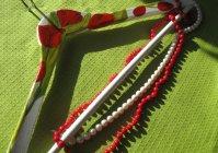 Вешалка для одежды с ручной росписью: