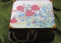 """Шкатулка: Цветущий луг / Casket """"Flowering meadow"""""""