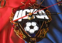 "Часы с витражной росписью ""ЦСКА"" / Watches with stained glass painted ""CSKA"""