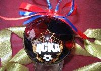 Новогодний шарик с росписью
