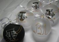 """Набор новогодних шариков с ручной росписью """"Торпедо"""""""