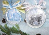 """Новогодние шарики """"Кошки зимой"""""""