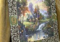 """Большие часы """"Домик в лесу"""" / Large clock """"Cabin in the woods"""""""