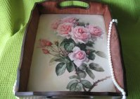 "Поднос ""Розы"" / Tray ""Roses"""