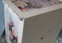 "Миникомод ""Розы-шебби - письмо любимой"" / Mini commode ""Shabby Roses- letter beloved"""