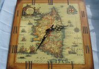 "Большие часы ""Старая карта"" / Great clock ""Old map"""