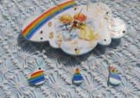 "Детские часы ""Феечки и радуга"" / Clock for baby ""Fairier and rainbow"""