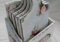 """Набор дубовых разделочных досок """"Розы шебби"""" / Set oak cutting boards """"Shabby Roses"""""""