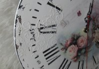 "Часы ручной работы ""Розы шебби""/ Clock handmade ""Roses shabby"""