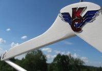 """Вешалка для одежды с ручной росписью """"Крылья советов"""" / Clothes hanger with hand painted """"Wings of the Soviets"""""""