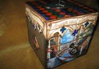 "Чайный мини комод ""Путешествие по Венеции"" / Mini commode for tea bags ""Journey of Venice"""