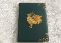 """Ежедневник с росписью """"Золотой петушок"""" - символ 2017 / Datebook with hand painting """"The Golden Cockerel"""" - a symbol to 2017 year"""