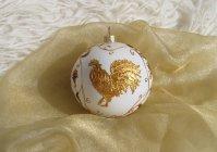 """Елочный шарик """"Золотой петушок"""" / Christmas ball """"Golden cockerel"""""""