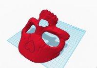 Маска в виде черепа для 3D принтера