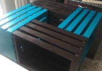Столик из деревянных ящиков своими руками