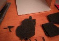 Защита iMac от пыли фильтром самоклейкин