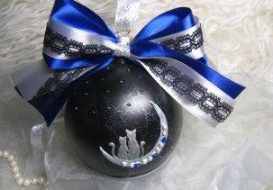 "Стеклянный шар с ручной росписью ""Влюблённые"" / Glass ball with hand painted ""Lovers"""