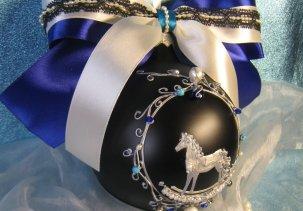 "Шар с росписью и инкрустацией - Лошадка / Glass ball with hand painted and inlay ""Horse"""