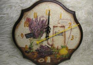 """Настенные часы """"Лаванда и лимон"""" / Clock """"Lavender and lemon"""""""