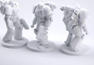 Фигурки Warhammer Space Marine - 3D модели