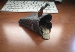 Чехол для наушников из монетницы handwers