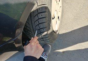 Ремонт прокола колеса