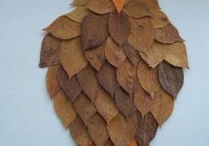 Аппликации из осенних листьев для детей