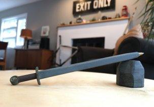 Ручка в виде Меча короля Артура - 3D модель
