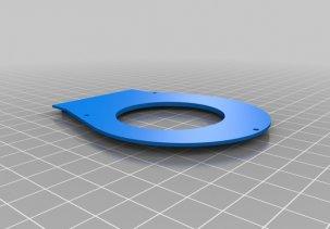 3D модель кулера для ноутбука 60мм