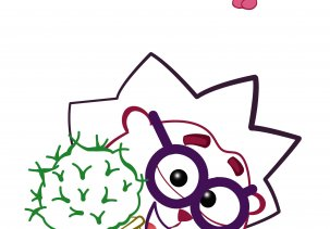 Раскраски смешарики для детей с цветным образцом А4