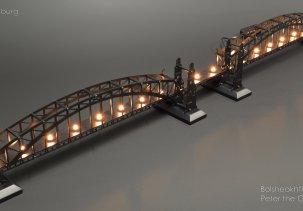 Инсталляция Большеохтинский мост (мост Петра Великого)